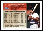 1994 Topps #174  Dave Martinez  Back Thumbnail