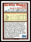 1994 Topps #209   Billy Wagner Back Thumbnail