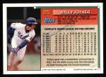 1994 Topps #275  Wally Joyner  Back Thumbnail