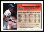 1994 Topps #130  Pat Listach  Back Thumbnail