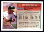 1994 Topps #188   Mike Bordick Back Thumbnail