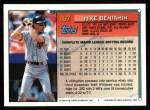 1994 Topps #487   Mike Benjamin Back Thumbnail