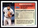 1994 Topps #433  Dave Burba  Back Thumbnail