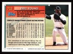 1994 Topps #712   Eric Young Back Thumbnail