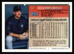 1994 Topps #60   Chris Bosio Back Thumbnail