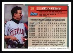 1994 Topps #36   Felix Fermin Back Thumbnail