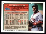 1994 Topps #190   Cecil Fielder Back Thumbnail