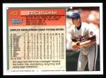 1994 Topps #453   Eric Hillman Back Thumbnail