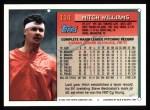 1994 Topps #114   Mitch Williams Back Thumbnail
