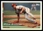 1994 Topps #114   Mitch Williams Front Thumbnail