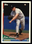 1994 Topps #350   Jim Abbott Front Thumbnail