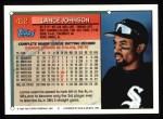 1994 Topps #452   Lance Johnson Back Thumbnail