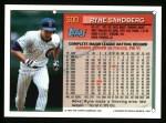 1994 Topps #300   Ryne Sandberg Back Thumbnail