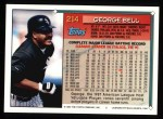 1994 Topps #214   George Bell Back Thumbnail