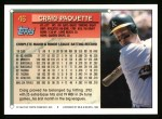 1994 Topps #46   Craig Paquette Back Thumbnail