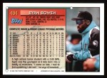 1994 Topps #494   Ryan Bowen Back Thumbnail