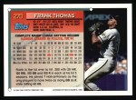 1994 Topps #270  Frank Thomas  Back Thumbnail