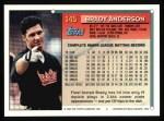 1994 Topps #145  Brady Anderson  Back Thumbnail