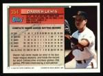 1994 Topps #354  Darren Lewis  Back Thumbnail