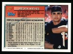 1994 Topps #307  Melvin Nieves  Back Thumbnail