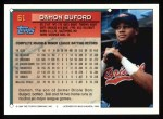 1994 Topps #61  Damon Buford  Back Thumbnail