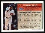 1994 Topps #272  Mike Harkey  Back Thumbnail