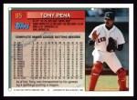 1994 Topps #85  Tony Pena  Back Thumbnail