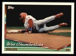 1994 Topps #419  Wes Chamberlain  Front Thumbnail