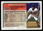 1994 Topps #274  Dave Gallagher  Back Thumbnail