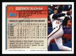 1994 Topps #273   Sandy Alomar Jr. Back Thumbnail