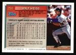 1994 Topps #256  Walt Weiss  Back Thumbnail