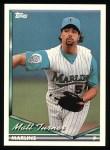 1994 Topps #587   Matt Turner Front Thumbnail