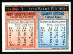 1994 Topps #394   -  Jeff Montgomery  /  Randy Myers All-Star Back Thumbnail