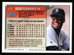 1994 Topps #400   Ken Griffey Jr. Back Thumbnail
