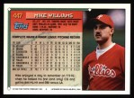1994 Topps #447   Mike Williams Back Thumbnail