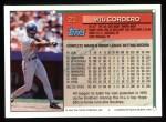 1994 Topps #21   Wil Cordero Back Thumbnail