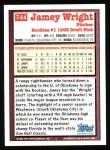1994 Topps #744   Jamey Wright Back Thumbnail