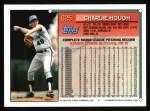 1994 Topps #625   Charlie Hough Back Thumbnail