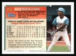 1994 Topps #653   Chuck Carr Back Thumbnail