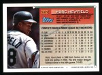 1994 Topps #262  Marc Newfield  Back Thumbnail
