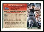 1994 Topps #299  Wilson Alvarez  Back Thumbnail