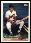 1994 Topps #80  Jose Canseco  Front Thumbnail