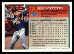 1994 Topps #159   Mike Fetters Back Thumbnail