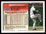 1994 Topps #481   John Franco Back Thumbnail