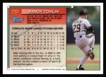 1994 Topps #338   Randy Tomlin Back Thumbnail