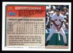 1994 Topps #235   Scott Cooper Back Thumbnail