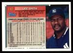 1994 Topps #110  Lee Smith  Back Thumbnail