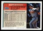 1994 Topps #219   Pat Borders Back Thumbnail
