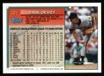 1994 Topps #101   Mark Dewey Back Thumbnail