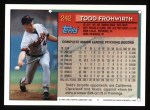 1994 Topps #242  Todd Frohwirth  Back Thumbnail